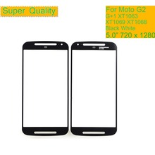 10Pcs/lot For Motorola Moto G2 G+1 XT1063 XT1069 XT1068 Touch Screen Front Outer Glass Panel Lens NO LCD Display Digitizer 5pcs original lcd digitizer with frame replacement for motorola moto g2 xt1063 xt1068 xt1069 display with touch screen assembly