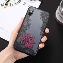 KISSCASE Rose Flower Case For Xiaomi 8 SE 5S A1 A2 Pocophone F1 Lace Phone Cases Redmi 4X 4A 5A 6A S2 Note 5 6 Pro Plus