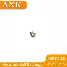2019 New Real Mr74zz Bearing Abec-1 (10pcs) 4*7*2.5 Mm Miniature Mr74 Zz Mr74z Ball Bearings L-740zz Mr74-zz