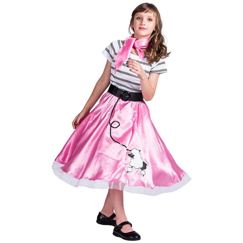Dance Dress Costume Kids Cute Pink Little Dog Girls Princess Dress Clothing Halloween Costume For Kids