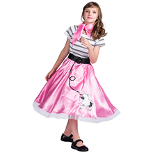 Dance Dress Costume Kids Cute Pink Little Dog Girls Princess Clothing Halloween For