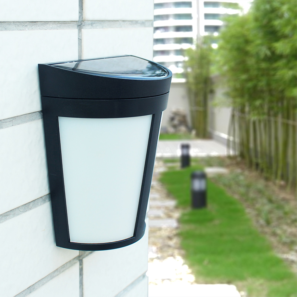 Portable Wall Lights: IP65 1W 6 LED Solar Powered Energy Wall Lamp Outdoor Light Rechargeable Battery Portable For