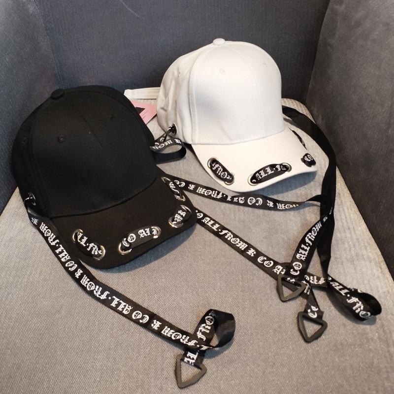 2018 Summer Letters Long Strap Bandage Visor Hat Ribbon Streamer Women's Cap Baseball Hip Hop Men's Hat Fashion Visors 3