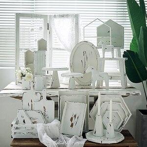 Винтажный белый торт подставка кекс подносы Свадебные украшения дома хранения стеллажи десерт стол Фотография фоновые инструменты