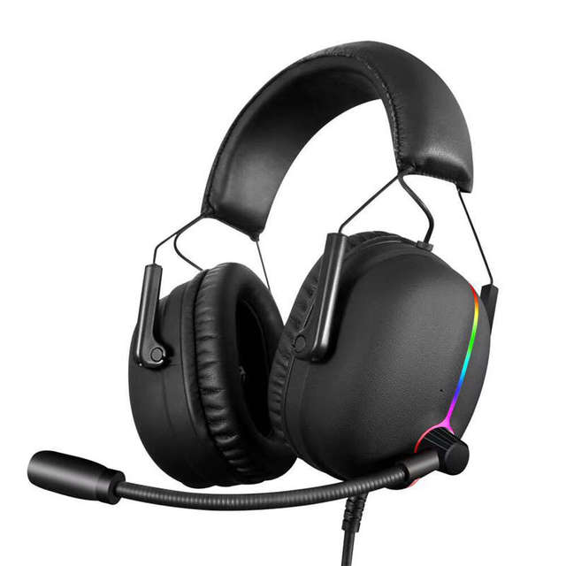 Gaming Headset Earphone Shock Bass High-End Luminous Electric Race 7.1 Audio Channel Wired Computer Headset 1