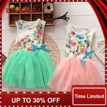 Girls Baby Kids Clothes Ball Gown Party Dresses Bow Cute Summer Floral Tops Fancy Tutu Dress Tulle One-pieces 1-4Y cute baby girls pink princess dresses autumn summer party long sleeve 3d heart tulle tutu dress ball gown dresses 2 7y