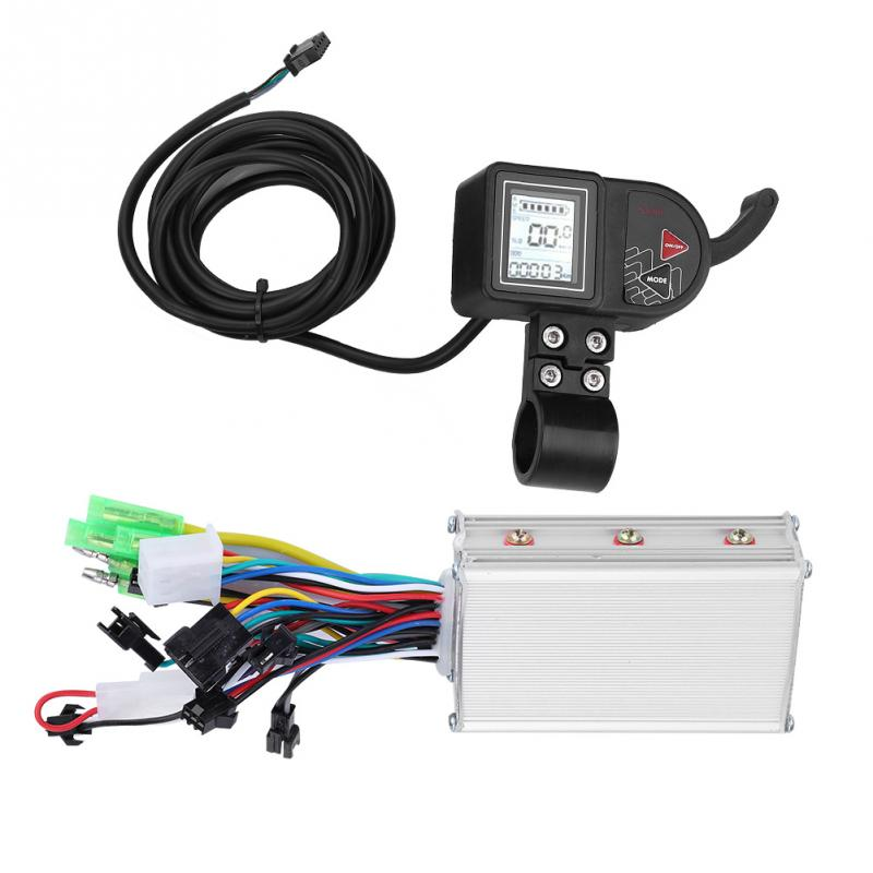 Ebike 24V 36V 48V 250W 350W Brushless Controller With LCD Display with Shift Switch Electric Bicycle