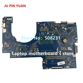 JU PIN YUAN 915467-601 915467-001 mainboard for HP NOTEBOOK 17-AB 17-W  17-AB292MS laptop motherboard with 1050 4GB i7-7700HQ for hp omen 17 17t an000 17 an012dx 17 an030ca 929522 601 929522 001 dag3bcmbcg0 rx580 8gb i7 7700hq laptop motherboard tested