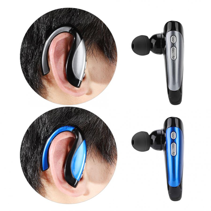 Bluetooth Version: 4.1  Headphone Headset Wireless Handsfree Stereo Business Earphone (Sliver and Blue Optional)