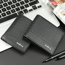 Original Brand Fashion Hipster Mens Wallet Cross Section Korean Version Plaid Embossed Short