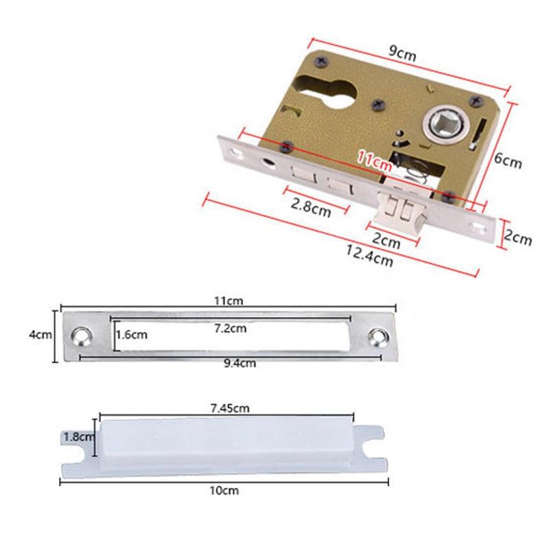 цены Stainless Steel Door Handle Lock Interior Door Lock Cylinder Security Silver