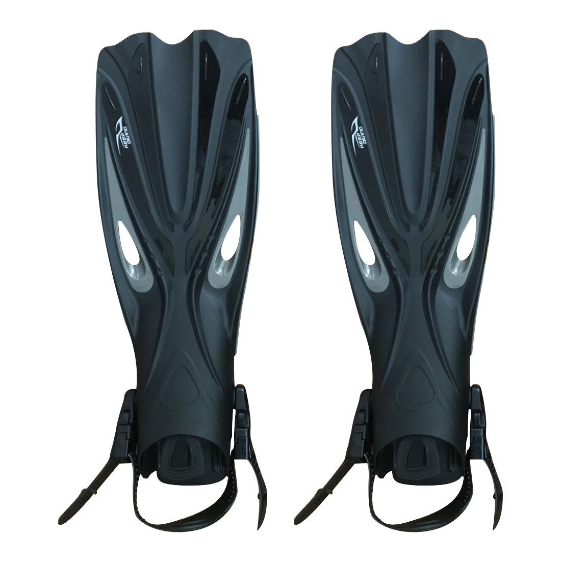 ELOS-KEEP plongée talon ouvert plongée sous-marine palmes longues réglable plongée en apnée nageoires de natation spécial pour bottes de plongée chaussures Gear (XL)