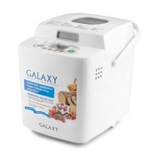 Хлебопечь Galaxy GL 2701(Мощность 600 Вт, вес выпечки 500/750 г, 19 программ, таймер, автоподогрев, 3 степени поджаривания корочки, отложенный старт до 15 часов