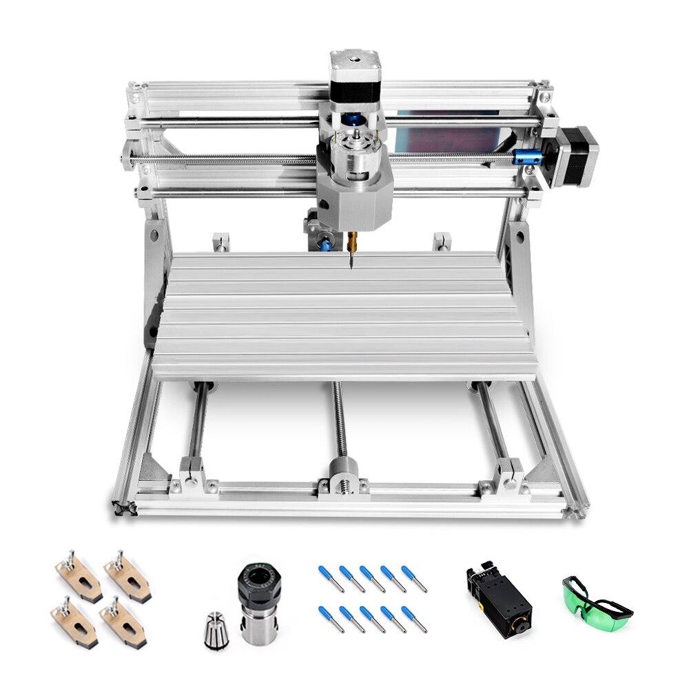 500 MW/2500 MW/5500 MW CNC3018 avec ER11 Mini Machine de gravure Laser routeur en bois bricolage Machine de gravure machines à bois