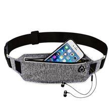 Profesional cintura bolsa cinturón deporte correa del teléfono móvil de las  mujeres de los hombres con oculto bolsa bolsas de ci. 6e57e9a97461