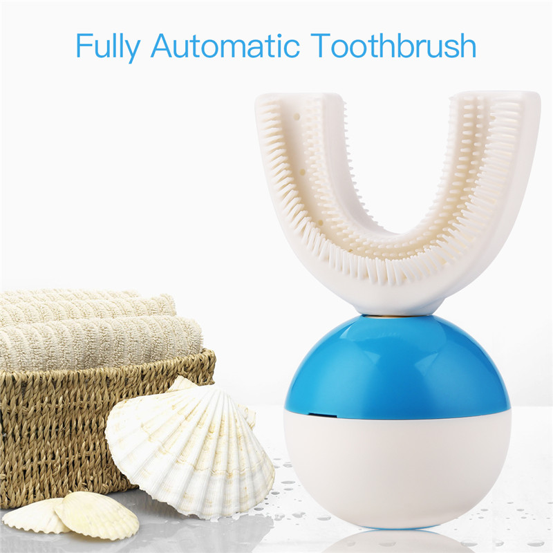 U Shape Automatic Electric Toothbrush Handfree 360 Degrees Ultrasonic Tooth Brush 10 Seconds Teeth Cleaner For Lazy People 35U Shape Automatic Electric Toothbrush Handfree 360 Degrees Ultrasonic Tooth Brush 10 Seconds Teeth Cleaner For Lazy People 35