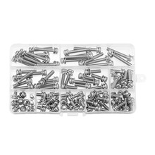 100Pcs M5 Stainless Steel 8-35mm Phillips Pan Head Machine Screw Washer Bolt Asortment For Quadcopter Home Repairing New