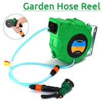 Automatic Retractable Water Drum Hose Reel With Spray for Gun10m With Pvc Tube Inside Diameter 8 Outer Diameter 12 To Watering