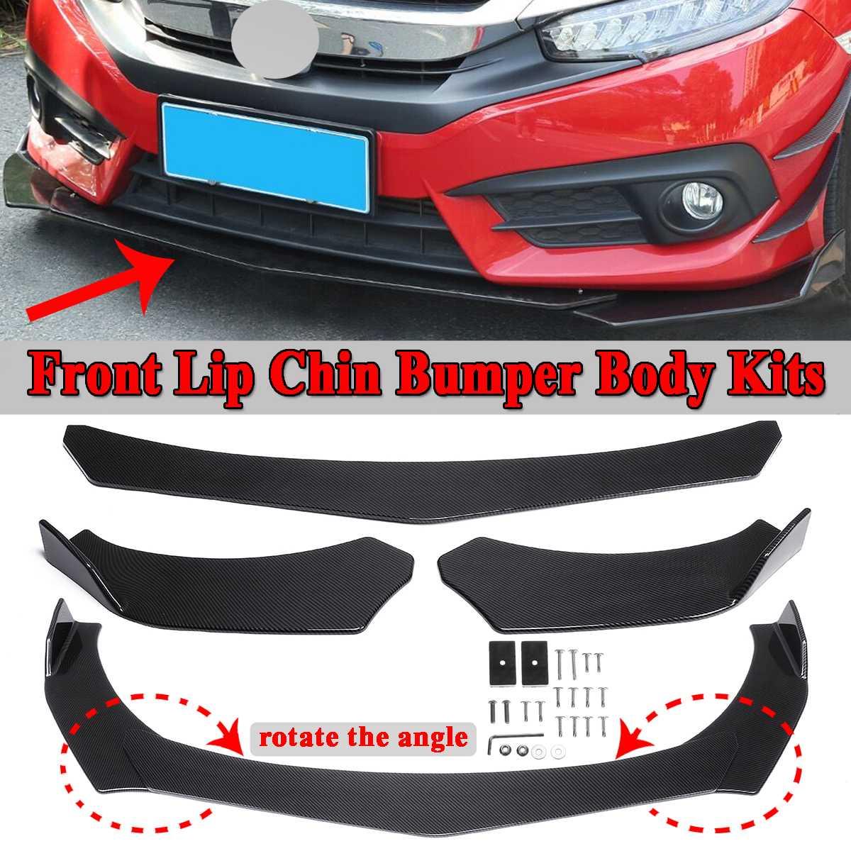 Novo Olhar De Fibra De Carbono Frente Car Lower Bumper Lip Chin Spoiler Body Kits Para BMW E36 E46 E60 E63 e64 E90 E91 E92 E93