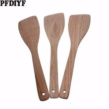 High Quality No Paint Cooking Utensils Wooden Turners Pancake Shovel Pot Spatula Frying Fish Shovel Kitchen Tools(China)