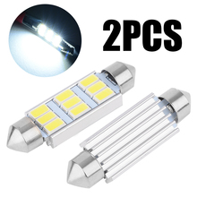 2pcs 42mm Festoon 5630 9LED Canbus Dome Interior Light Bulb Warm White Auto Doom Lamp Car Styling
