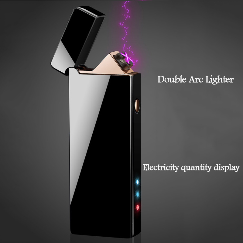 Rechargeable Lighter Usb Double Cross Arc Electronic Cigar Cigarette Lighter Windproof Flameless Electric Plasma LightersRechargeable Lighter Usb Double Cross Arc Electronic Cigar Cigarette Lighter Windproof Flameless Electric Plasma Lighters