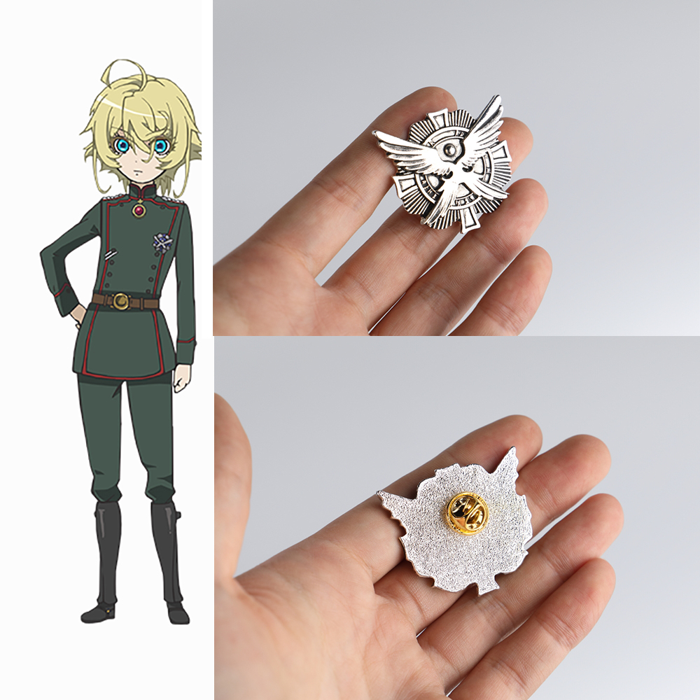 Anime Saga of Tanya the Evil Badge Cosplay Tanya Von Degurechaff Pins Brooches Accessories Metal Souvenir Party Prop