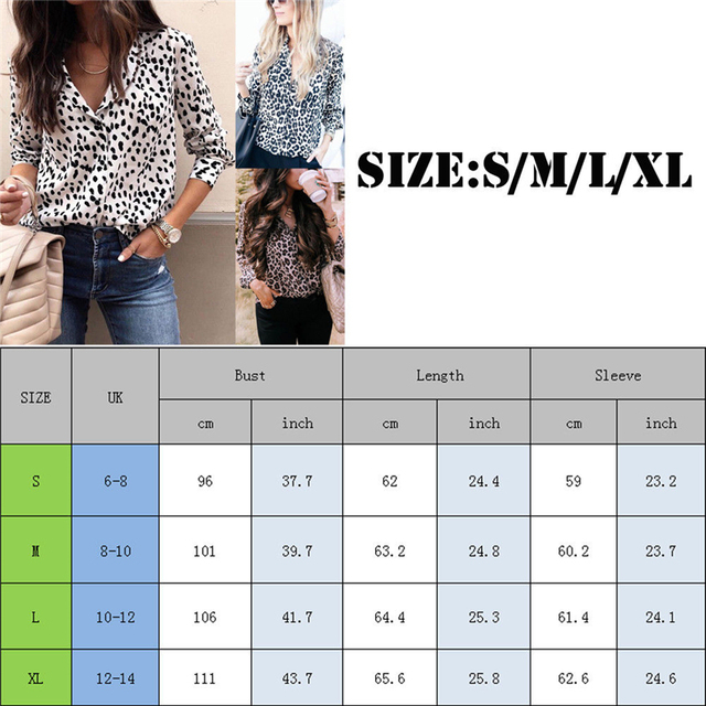 Sexy Leopard Print Shirt Women Long Sleeve Shirts Ladies Shirts And Blouses Button Shirt Casual Turn Down Collar Leopard Blouses 2
