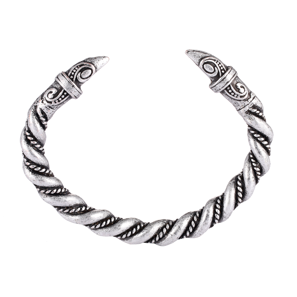 1pc Handmade Top Quality Norse Viking Raven Bangles Bracelets B-05-1 bangle