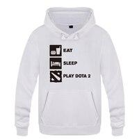 Eat Sleep Game Gamer Gaming Funny Creative Hoodies Men 2018 Men's Pullover Fleece Hooded Sweatshirts