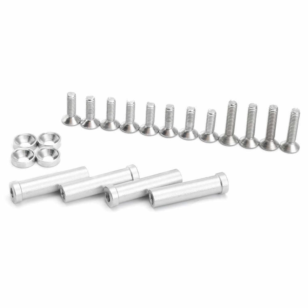 Conjunto de montaje de Servo de dirección de aleación de aluminio de tifón de 1/8 báscula para Arrma Kraton Senton tornillos RC piezas de coche