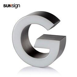 3D imensional acrílico LED frontal iluminado alfabeto carta resina señal