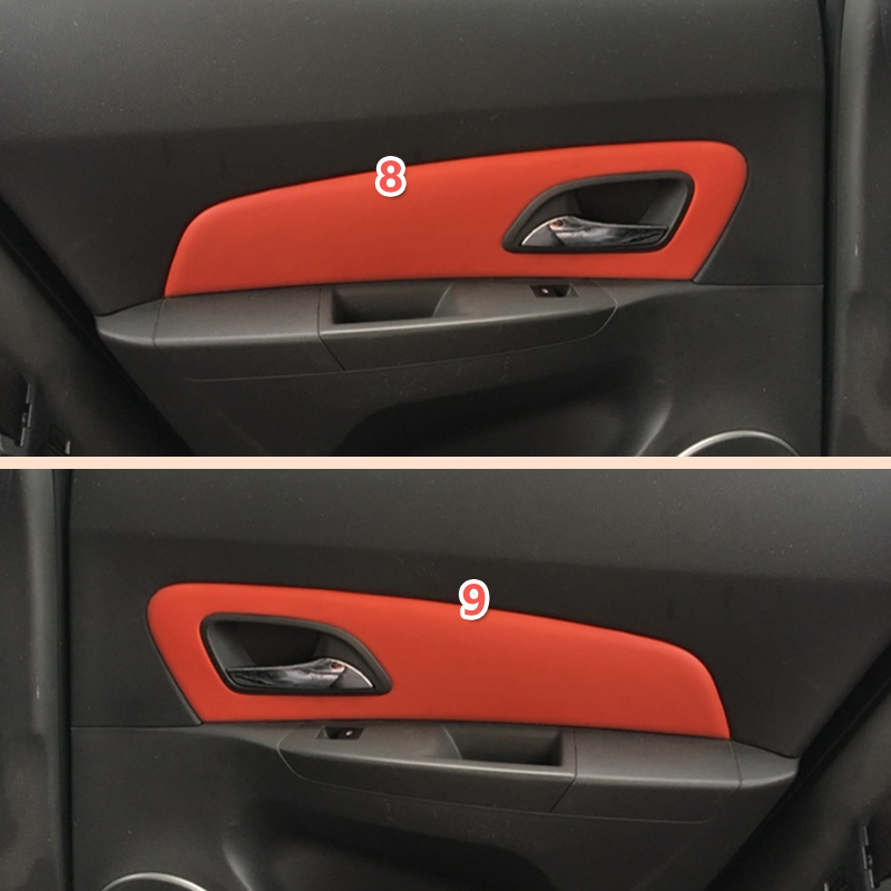 Image 3 - Microfiber Leather Interior Car Styling Door Armrest / Center Dashboard Panel Covers Trim For Chevrolet Classic Cruze 2009 2015-in Interior Mouldings from Automobiles & Motorcycles
