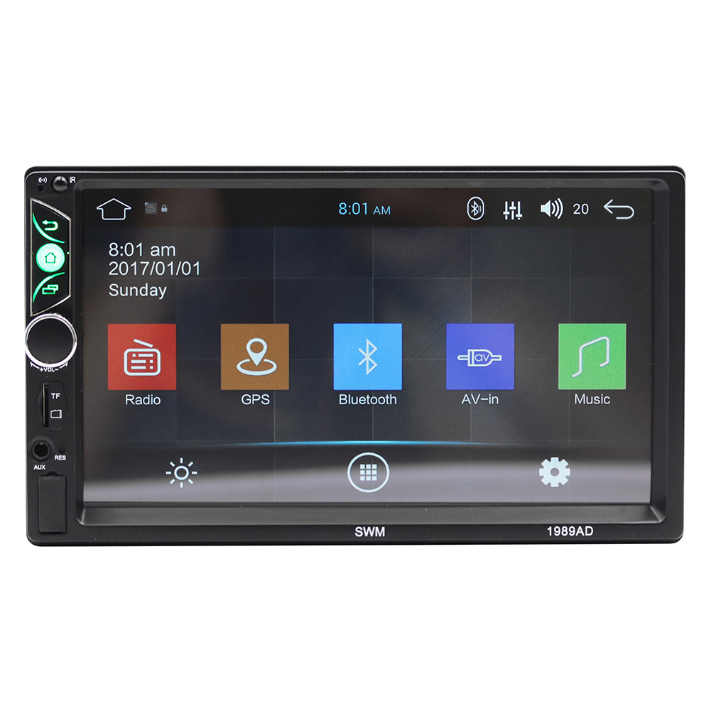 7-Inch High Definition Vehicle Bluetooth Mp5 Player Auto Double Ingot General GPS Navigation Integrated Machine 1989AD7-Inch High Definition Vehicle Bluetooth Mp5 Player Auto Double Ingot General GPS Navigation Integrated Machine 1989AD