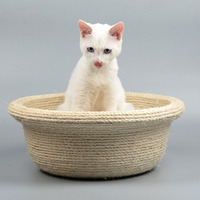 Sisal Cat Scratching bed Cats Hemp House Bed Kitten Sisal Playing Scratching Board Interactive Climber Scratcher Toys CW219
