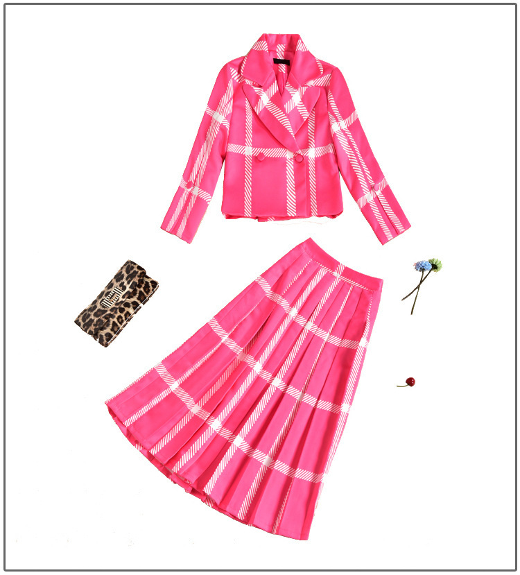 Mode Avec Rose Longues Turn Wear Femmes Jupe Dames Manches down Bureau À Nouvelle Costumes D704 Collar Work Pour 2018 Slim Ha1wF