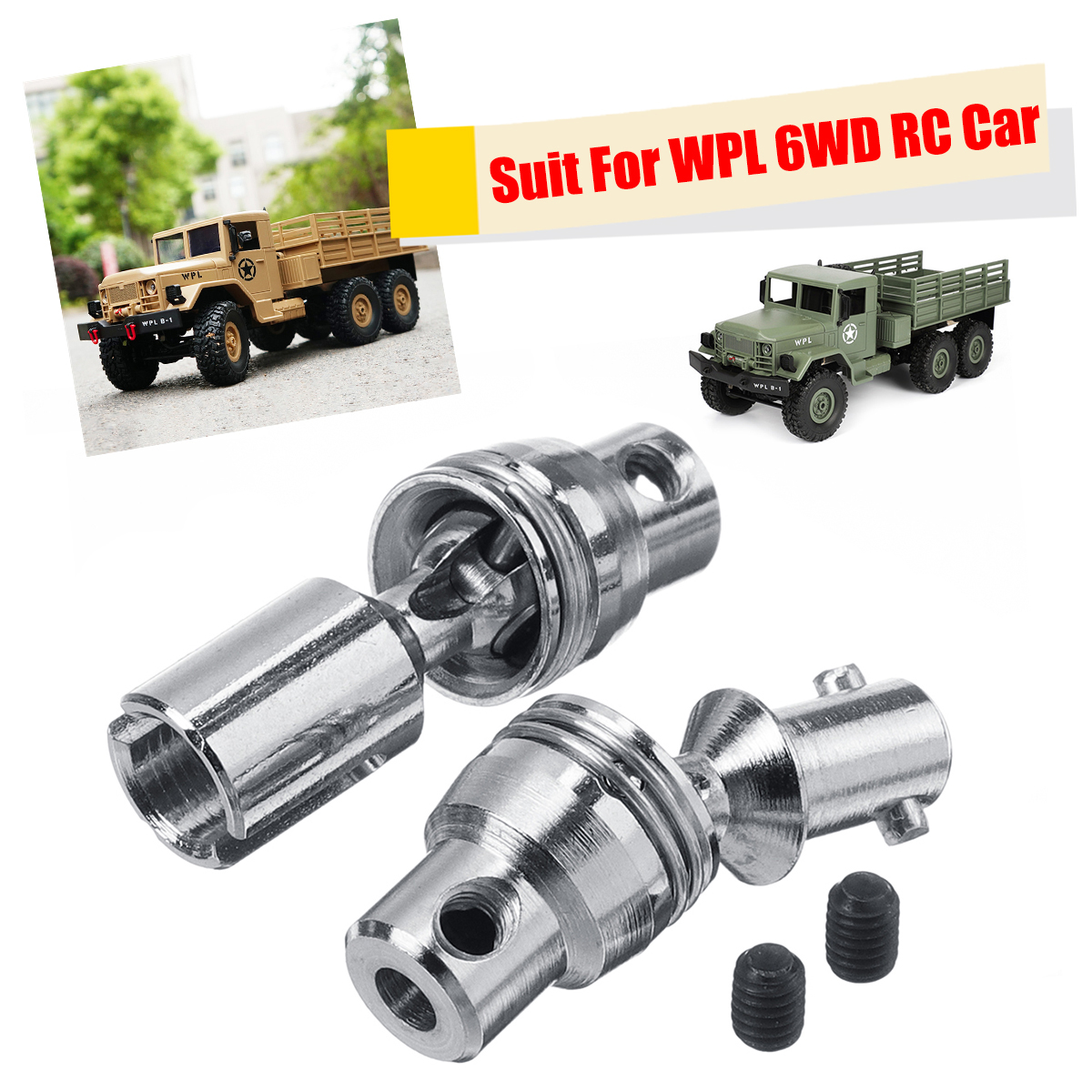 Upgrade Spare Part Metal Drive Rear Axle Shaft Set For WPL 1/16 6WD B16 RC Truck Car Durable Perfectly Fits Parts & Accs ReplaceUpgrade Spare Part Metal Drive Rear Axle Shaft Set For WPL 1/16 6WD B16 RC Truck Car Durable Perfectly Fits Parts & Accs Replace
