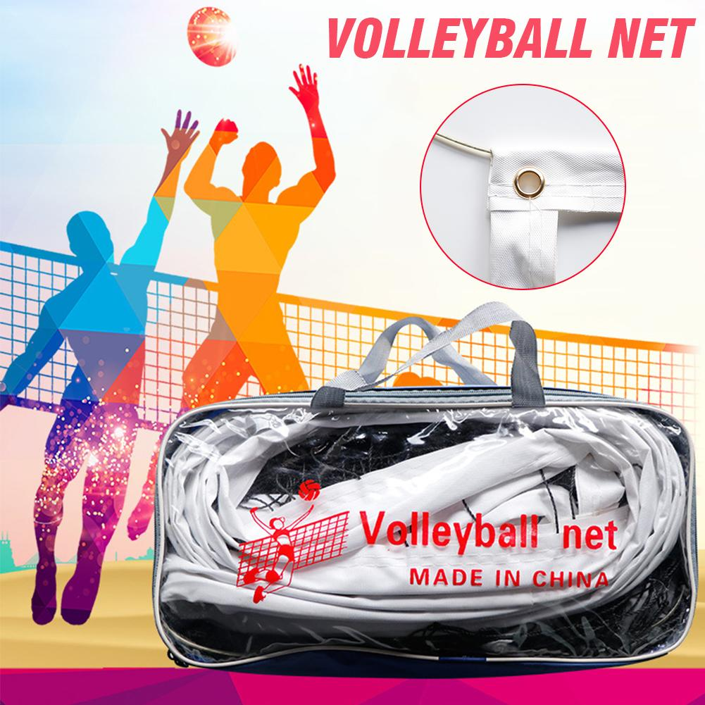 Portable Volleyball Net Four-sided Thickened Canvas Edging PE Durable Standard Volleyball Net For Competition Training Practice