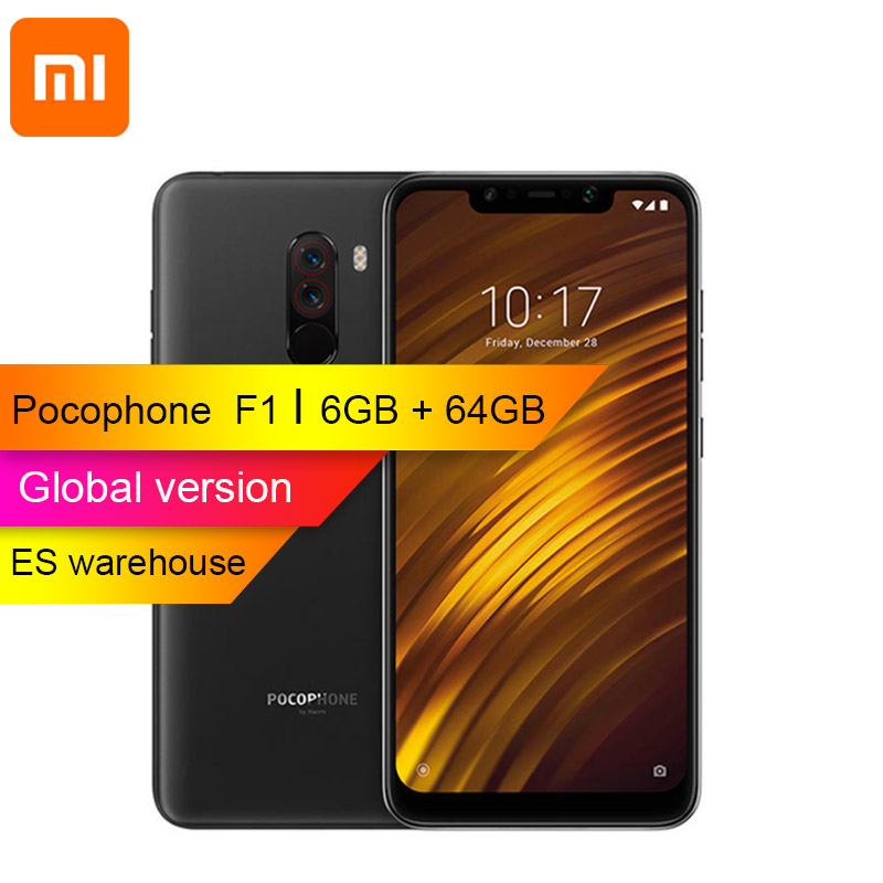 Global version Xiaomi POCOPHONE F1 POCO F1 6GB RAM 64GB ROM Snapdragon 845 45 6 18