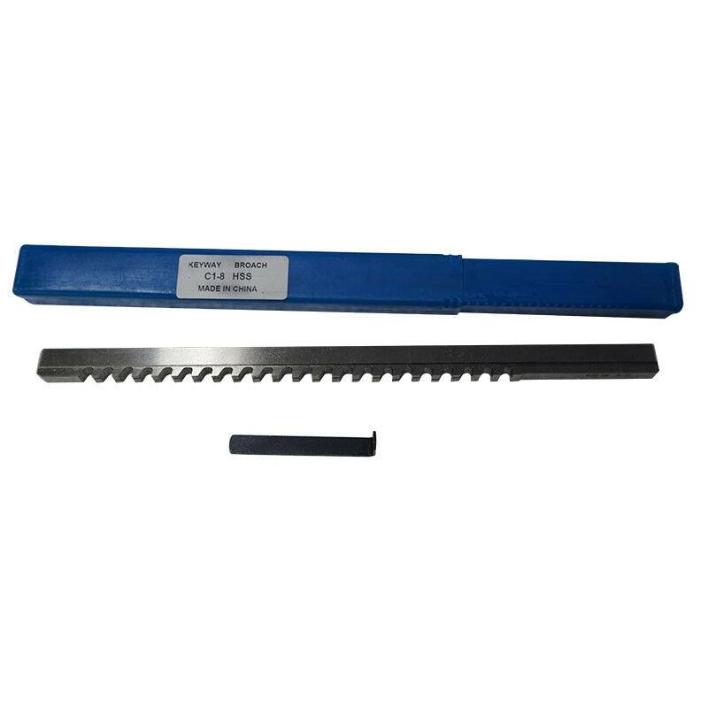 8mm C Push-Type Keyway Broach HSS Metric Size CNC Machine Tool  S