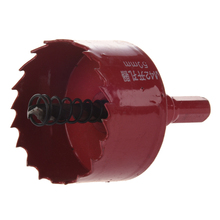 Red 50mm Diameter Bimetal Hole Saw Wood Alloy Iron Cutter ayhf e shank wood iron cutting 55mm diameter hole saw