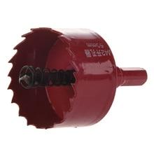 цены Red 50mm Diameter Bimetal Hole Saw Wood Alloy Iron Cutter