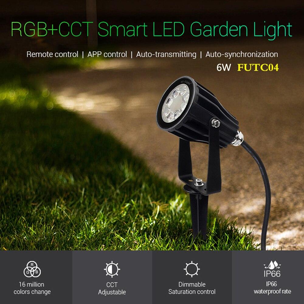 Умные светодиодные садовые лампы FUTC04 6 Вт RGB + CCT, освещение IP66, переменный ток 100 В ~ 220 В для уличных зеленых пространств/парка/дороги/ландшафт...