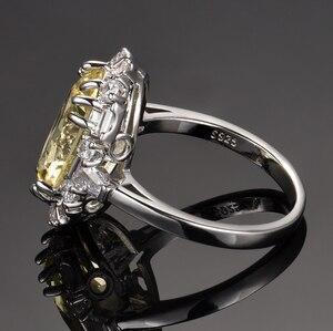 Image 3 - Nasiya utworzono cytrynowe pierścienie z kamieniami szlachetnymi dla kobiet prawdziwe 925 srebro biżuteria pierścionek rocznica ślubu Paty prezent hurtownia