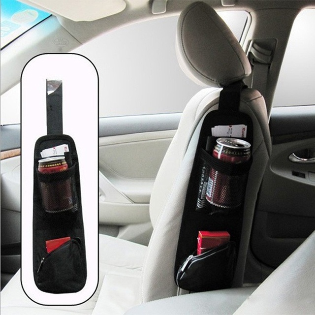 Car Seat Storage Bag Organizer For Stowing Tidying Auto Seat Side Bag Hanging Pocket Bags Nylon Sundries Holder car-styling New