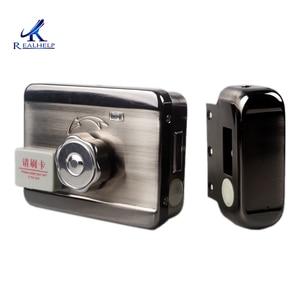 Image 3 - Unidade eletrônica controlada da indução da porta, cartão de escovação e cartão magnético, fechadura para casa para aluguer doméstico