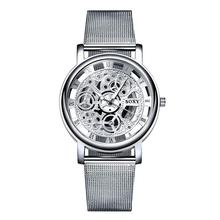 2020 women watches Hollow Skeleton Wristwatch Mesh Belt ladi