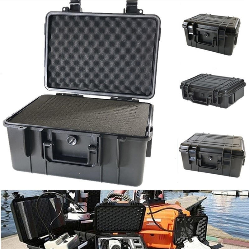 Waterproof Safety Instruments Boxes ABS Plastic Tool Case Box Sealed Camping Outdoor Survival Shockproof Protective Dry