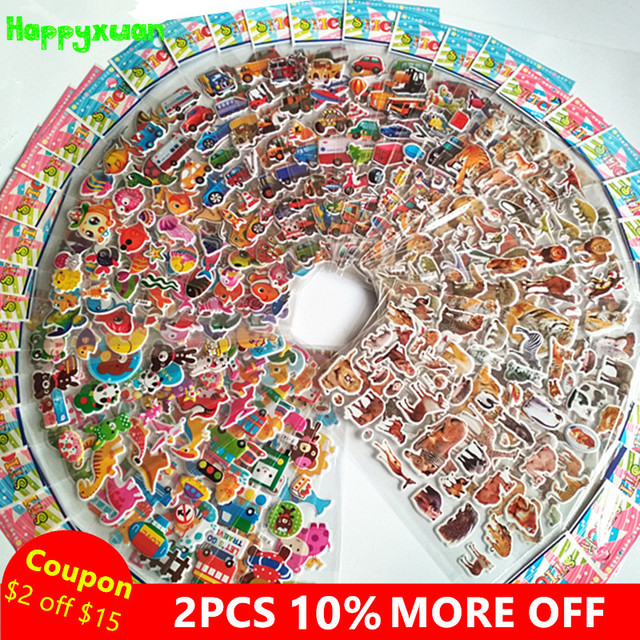 3D Puffy Stickers 50 sheets