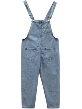 цена Women Denim Jumpsuit 2019 Spring Summer Ladies Loose Jeans Rompers Female Casual Pocket Denim Overalls Jumpsuits в интернет-магазинах